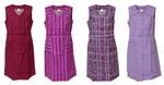 Damenkittel Baumwolle ohne Arm Kittel Schürze Knopfkittel bunt Hauskleid 001
