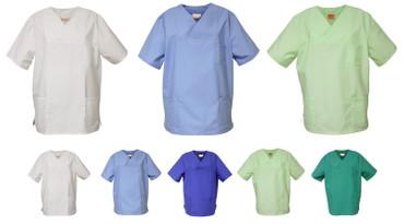 Schlupfkasack versch. Farben OP- Kasack Schlupfhemd Pfleger Kasack Schürze  – Bild 1