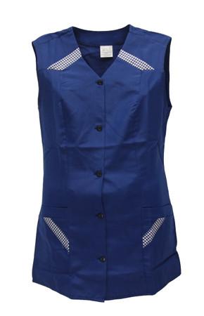 Hosenkasack blau kurz einfarbig Kasack Schürze ohne Arm Kittel – Bild 3