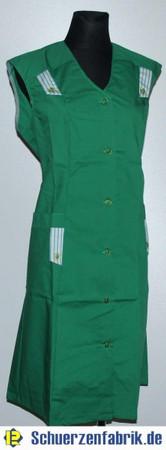 Damenkittel Kittel Schürze grün ohne Arm Baumwolle/Polyester