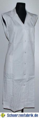 Damenkittel Kittel Schürze weiß ohne Arm Baumwolle/Polyester Kragen