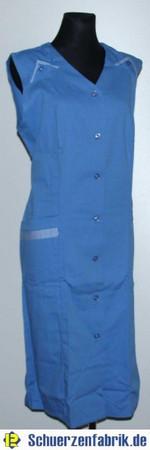Damenkittel Kittel Schürze blau ohne Arm Baumwolle/Polyester