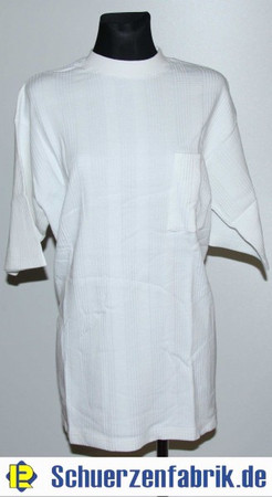 T-Shirt Sweatshirt Shirt weiß mit Muster