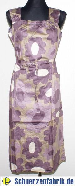 Kleid Trägerkleid Hauskleid Gartenkleid Strandkleid Satin