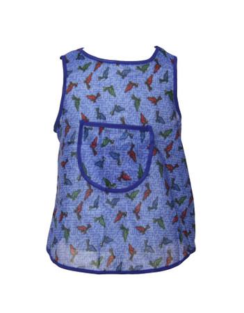 Kinderschürze hinten knöpfen Dederon Malschürze Backen Essen Dino blau – Bild 3