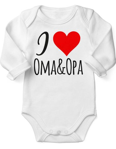 Babybody Langarm I love Oma & Opa