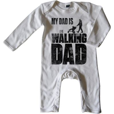 Mikalino Baby Schlafanzug My Dad is the Walking Dad langarm