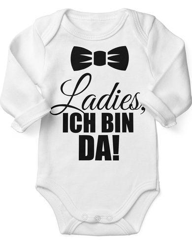 Babybody Langarm Ladies, ich bin da!