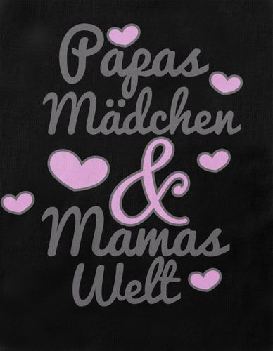 Mikalino Baby / Kinder T-Shirt mit Spruch für Jungen Mädchen Unisex kurzarm Papas Mädchen & Mamas Welt | handbedruckt in Deutschland | Handmade with love