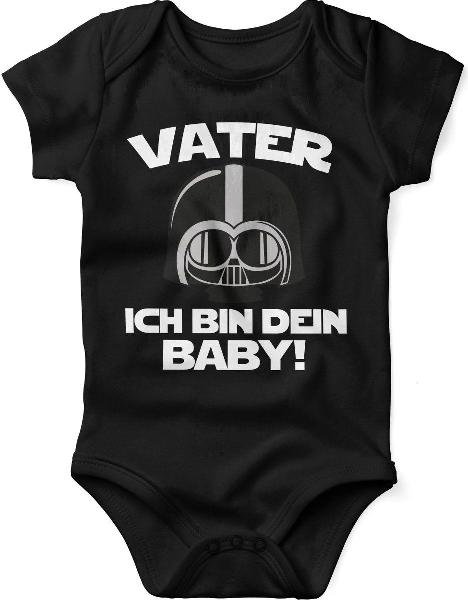 Baby Body Druck Motiv Spruch Geschenk Geburt Papa´s kleine Prinzessin rosa