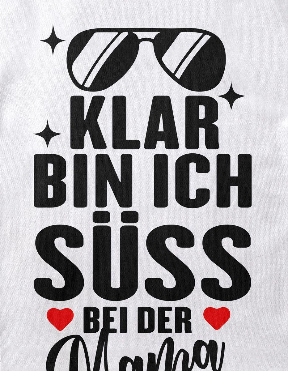 Mikalino Baby//Kinder T-Shirt mit Spruch f/ür Jungen M/ädchen Unisex Kurzarm Klar Bin ich s/ü/ß bei der Mama Handmade with Love handbedruckt in Deutschland