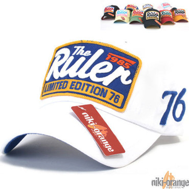 Ruler Baseball Cap weiß