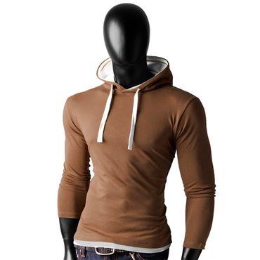 Basic Shirt Hoodies – Bild 7