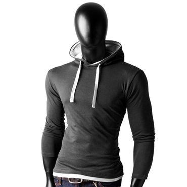 Basic Shirt Hoodies – Bild 4
