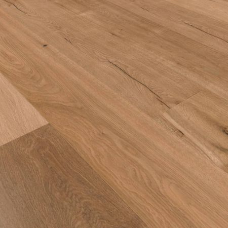 Parquet Pavimento in legno Rovere piallato a mano oliato naturale Plancia unica a 3 strati 1860x189x15mm Collection Earth CE105 – Immagine 4