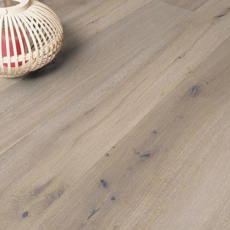 Parquet Pavimento in legno XXL Rovere spazzolato oliato bianco, plancia larga a 3 strati 2200x260x15mm Collection Earth CE112 – Immagine 6