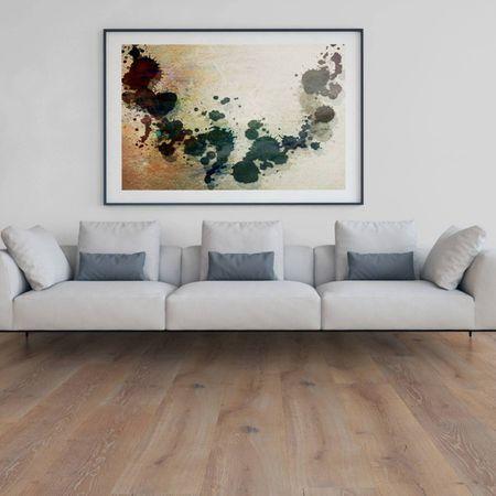 Parquet Pavimento in legno XXL Rovere affumicato spazzolato oliato bianco, plancia larga a 3 strati 2200x260x15mm Collection Earth CE114