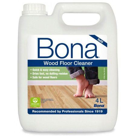 Bona Wood Floor Cleaner, Detergente per pavimenti in legno, ricarica da 4 litri per Bona Spray Mop – Immagine 1