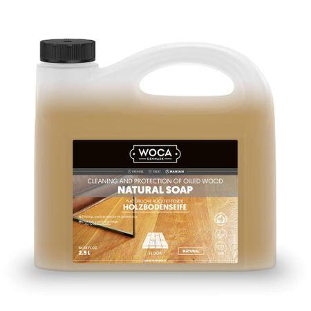Woca Sapone Naturale 2,5l, per pulizia e manutenzione del pavimento in legno oliato