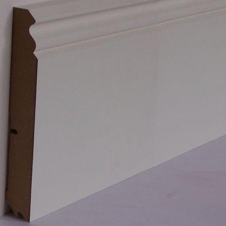 Battiscopa profilato sagomato Vecchio Berlino MDF foliato bianco, profilo 627, 18x120x2700mm – Immagine 1