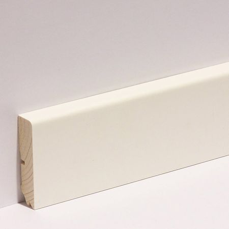 Sockelleisten ProfilNr. 631 UM Weiß, Grundierfolie 16x58x2700mm – Bild 1