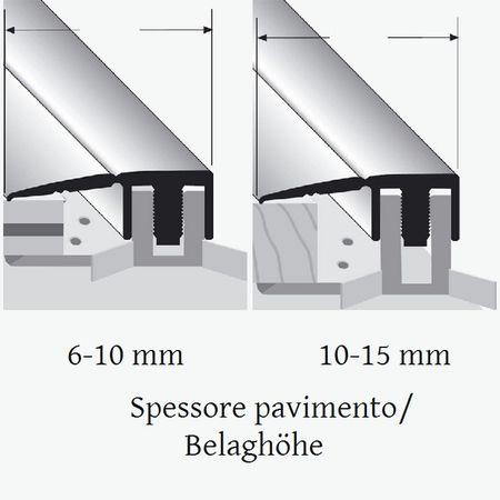 Profilo terminale Duo Grip 2100 28mm Argento 2,7m – Immagine 2