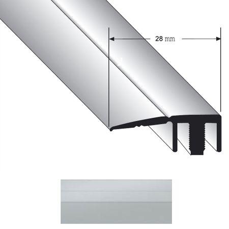 Restposten -30% für Abschlussprofil Duo Grip 2100 28mm Silber 2700mm