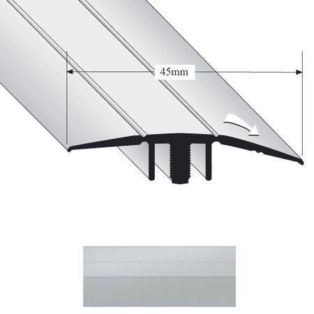 Restposten -30% Ausgleichprofil flach Duo Grip 2300 nieder 45mm Silber 900mm