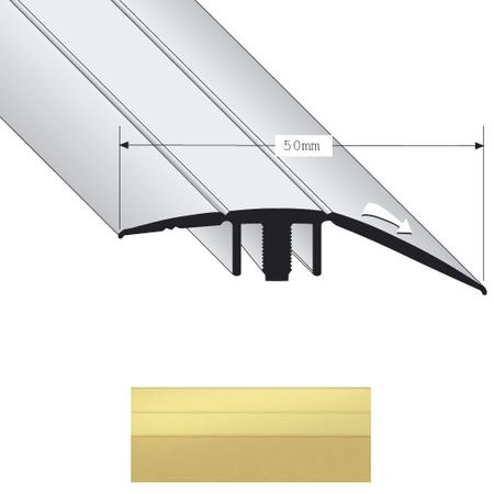 Stock di magazzino -30% Profilo di differente livello Duo Grip 2400 alto 50mm Sabbia 0,9m – Immagine 1