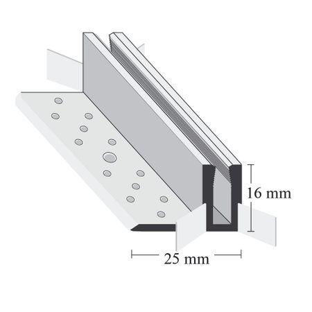 Clip di montaggio per Pofili Duo Grip, per pavimenti di spessore 10-15mm – Immagine 1
