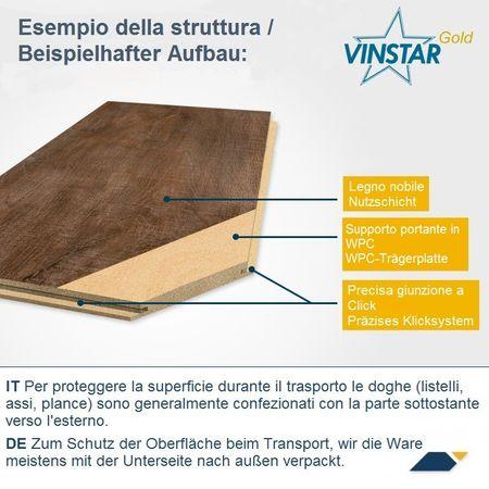 Restposten %%% Vinylboden Eiche Spring, 1-Stab-Landhausdiele 1520x225x5,5mm mit WPC-Trägerplatte und Click, Vinyl-Parkett Designervinyl Bodencouture VinySNAP G5-XL – Bild 4