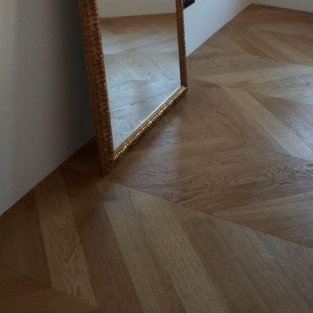 Stock di magazzino -55% CP Parquet AA2 Spina ungherese Rovere Select spazzolato oliato naturale, 860x135x14mm – Immagine 1