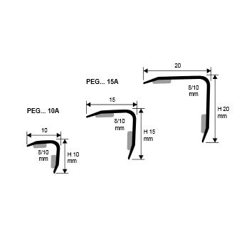 Profilo angolare autoadesivo Proedge PEGACS 10A, Acciaio Inox satinato, 10x10x2700mm – Immagine 2