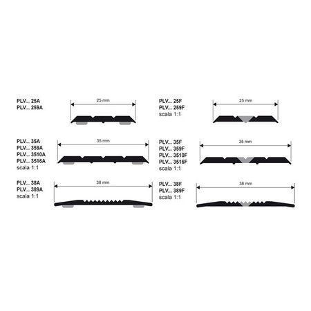Progress Profiles für Prolevall PLVAA 25A Übergangsprofil Aluminium eloxiert,selbstklebend 25x2700mm – Bild 2
