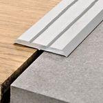 Progress Profiles Profilo Prolevall PLVAA 25A, Alluminio anodizzato Adesivo 25x2700mm 001