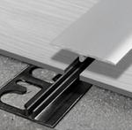 Restposten -30% für Progress Profiles Übergangsprofil SOL 30P PNSPAA 3046 Aluminium eloxiert mit Basisleiste PINBFT 3646, 4-6x30x2700mm 001