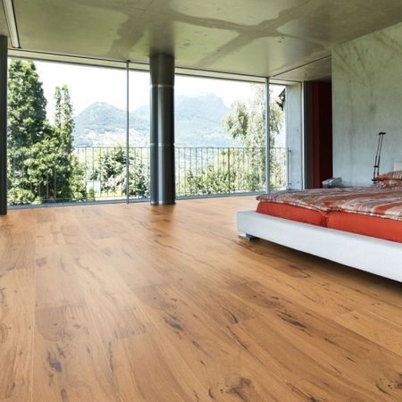 Parquet Pavimento in legno Rovere spazzolato oliato naturale Plancia unica a 3 strati 1900x190x14mm Collection Earth CE141