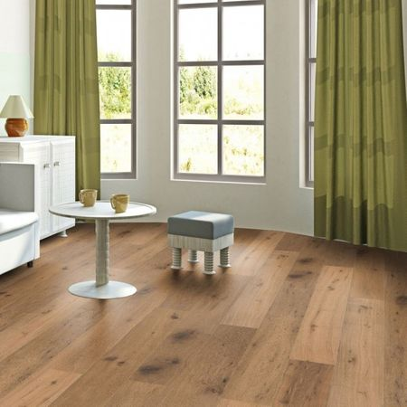 Parquet Pavimento in legno Rovere affumicato piallato a mano oliato naturale, Plancia unica a 3 strati 1830x190x14mm Collection Earth CE147 – Immagine 1