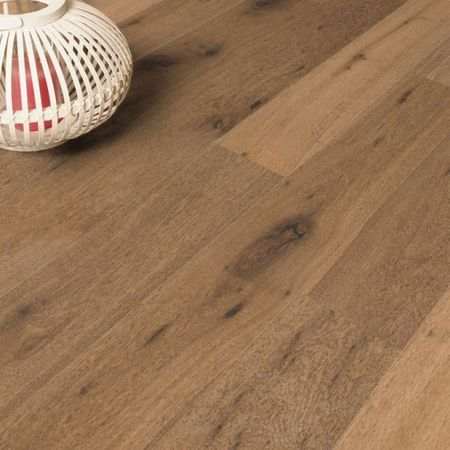 Parquet Pavimento in legno Rovere affumicato piallato a mano oliato naturale, Plancia unica a 3 strati 1830x190x14mm Collection Earth CE147 – Immagine 2