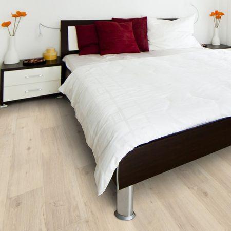 Pavimento in vinile Rovere Sbiancato, Plancia unica a 1210x180x8,5mm con pannello portante in HDF Click, TAMI – Immagine 1