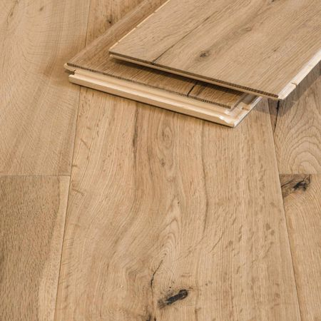 Parquet Pavimento in legno Rovere piallato a mano oliato pure Plancia unica a 3 strati 1860x189x15mm Collection Earth CE168 – Immagine 1