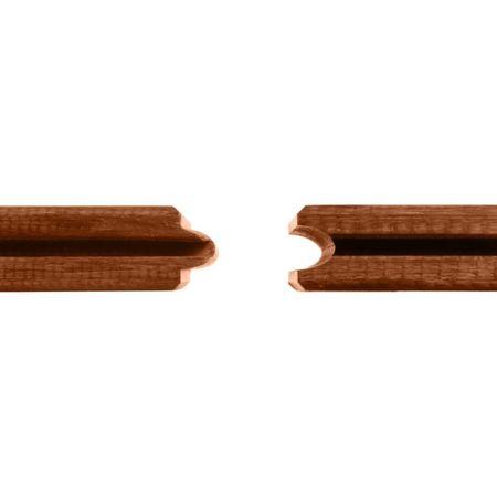 Pavimento da esterno Bambù DassoCTECH, particelle ceramiche e oliato marrone, liscio/dentato, 1850x137x20mm – Immagine 4