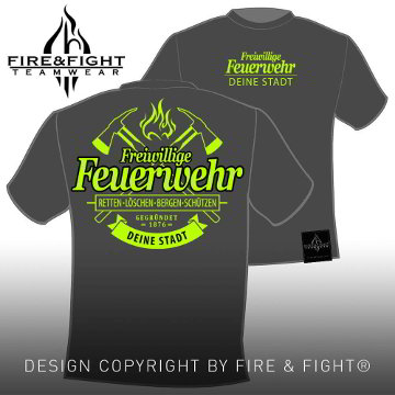 Freiwillige-Feuerwehr-Chart-T-Shirt-grau-neon