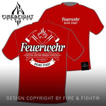 Feuerwehr-T-Shirt-rot-weiss