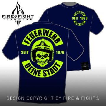 Skull-Chart-FW-T-Shirt-navy-neongelb