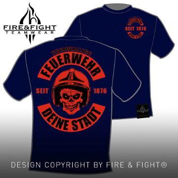 Skull-Chart-FFW-T-Shirt-navy-rot