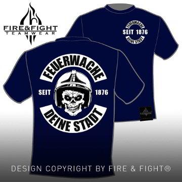 Skull-Chart-FWache-T-Shirt-navy-weiss