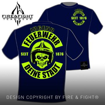 Skull-Chart-JugendFW-T-Shirt-navy-neongelb