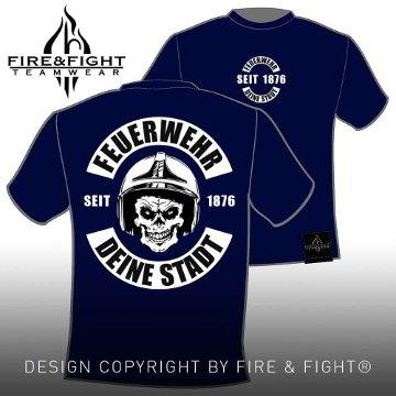 Skull-Chart-FW-T-Shirt-navy-weiss