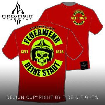 Skull-Chart-FFW-T-Shirt-rot-neongelb